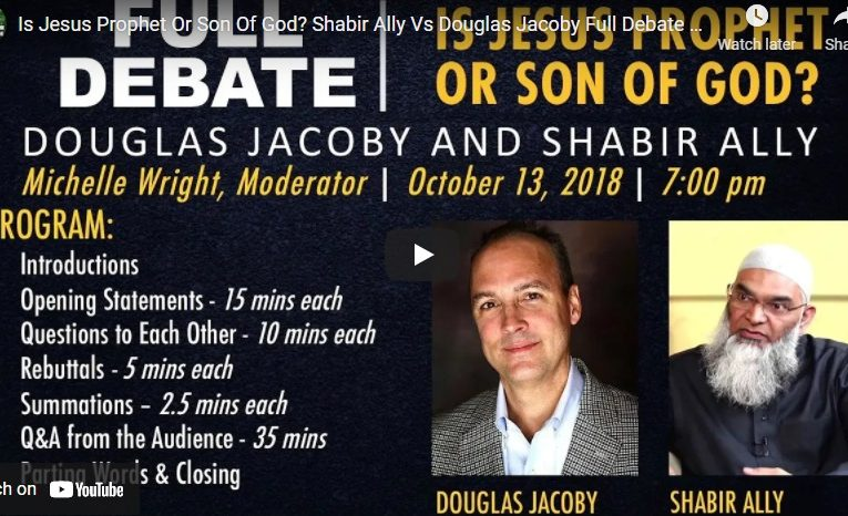 Is Jesus Prophet Or Son Of God? Shabir Ally Vs Douglas Jacoby Full Debate + Q & A